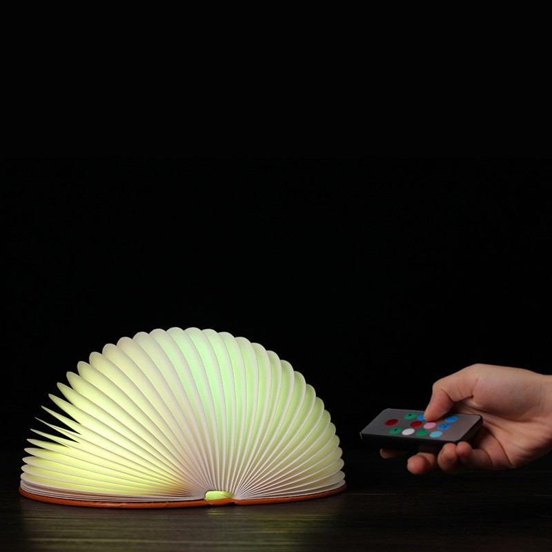 YARRAE creative night lights 360 degree folding book lamp full color led lamp remote control