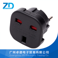 Euro 2 Pin To 3 Pin UK Converter Plug / Adapter