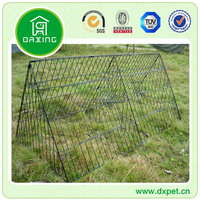 Two Color Beautiful Folding Strong Spray Wire Pet Cages DXW002