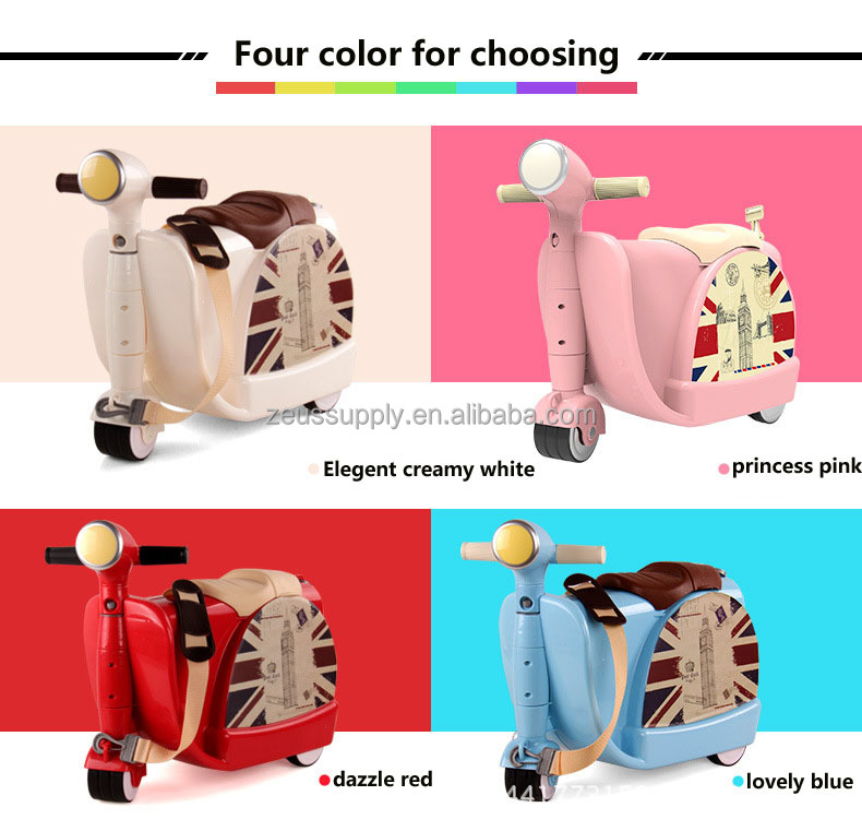 cabin luggage travel bag ride-on 3d kids car luggage 822-217