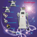 6 in 1 Freeze Body Sculpting Ultrasonic liposuction Cavitation RF Vacuum Fatness Removal / Cool Shape Machine