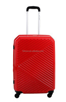stylish silent abs luggage with trolley
