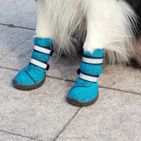 JML Non-slip Rain Shoes Medium Dog Boots Socks Pet Rubber Cat Waterproof Shoes