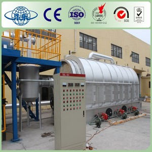 Continuous Waste Rubber/Plastic/Tire Pyrolysis Plant to Fuel Oil Carbon Black and Steel Wires