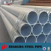 Round Head Code and Carbon Steel Material Galvanized ERW Steel Pipe for Building Greenhouse