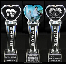Modern New Products Decorative Crystal Trophy Columns