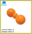 rubber silicone double lacrosse balls ball of muscle