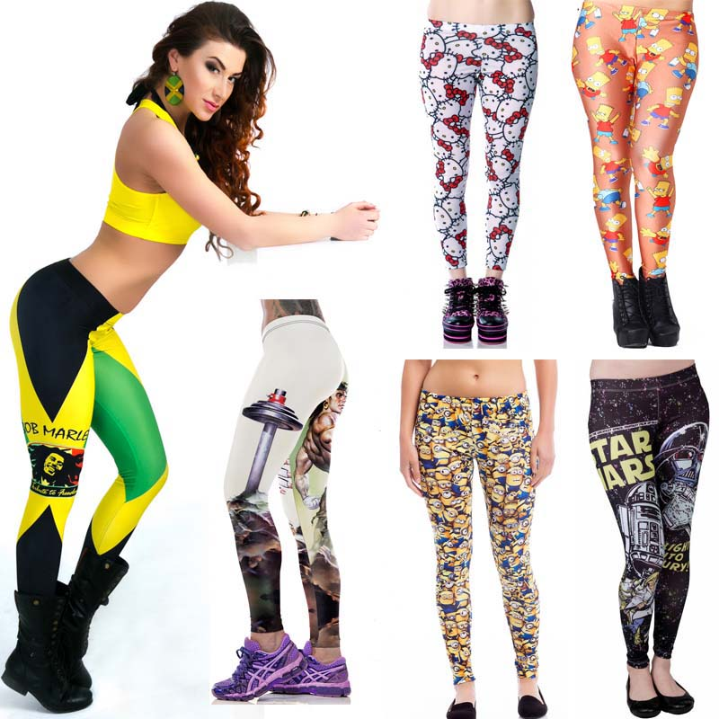 2016 Newly launched good quality women fashion printed leggings