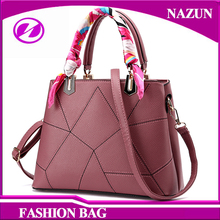 2016 new stylish new trendy designer simple custom all match purple pu leather fashion women tote bags handbags
