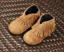 wholesale bear pattern toddler handmade soft leather moccasins baby shoes manufacturers