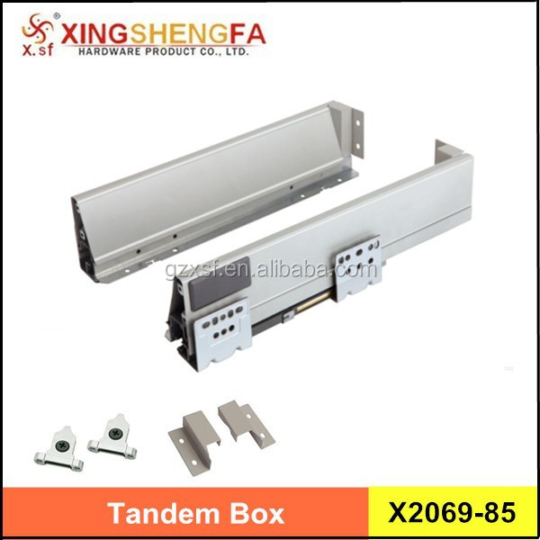 full extension 200mm tandem box easy install tool box drawer slides