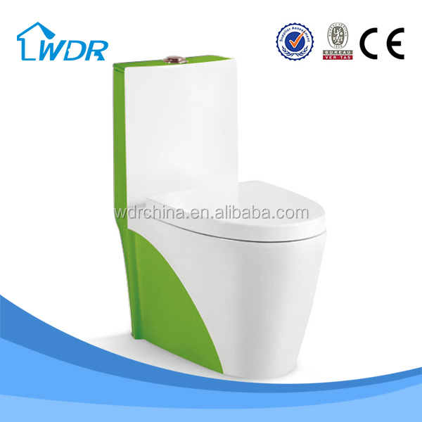 China ceramic factory wholesale green toilet bowl color