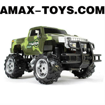 rb-1050631 rc military car 4CH Army green remote control off-road military car with differentials and shock absorptions