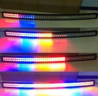 RGB LED Flash pattern , double row straight or curved, traffic indication light bar for Jeep,truck,chevy,4x4.