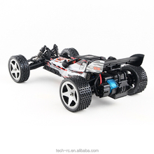 Outdoor Silver Radio Control RC Electric Off-Road Racing Car With 1:12 Scale