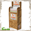 Liquor Bottle Display Shelf , Floor Stand Display , Wood Flooring Display Rack