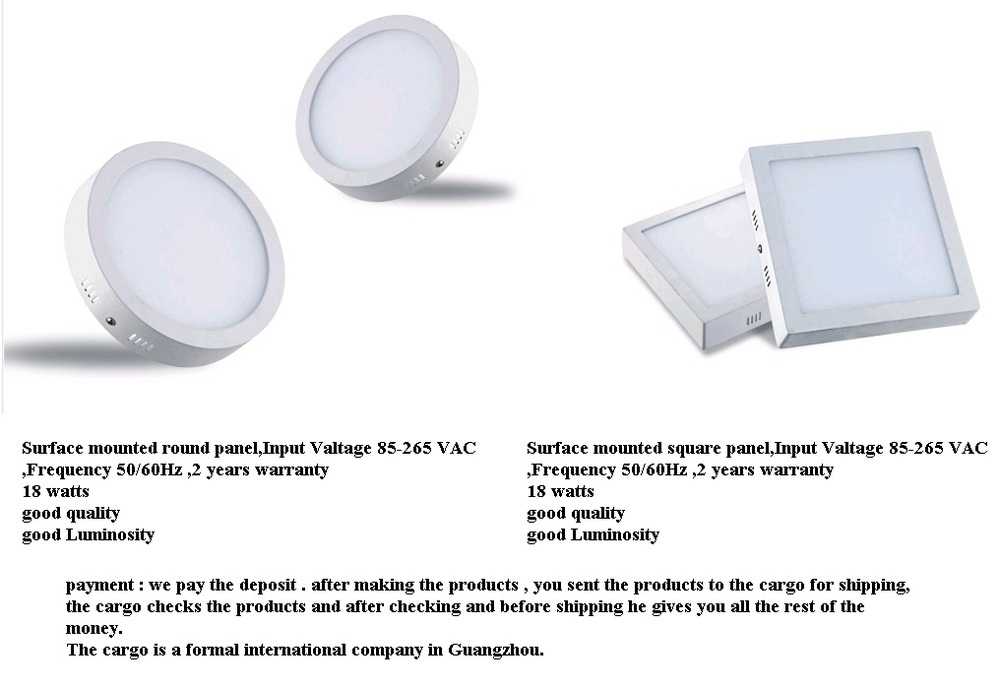 Factory exporting AC85-265V 0-10V dimmable round led panel light 3w to 24w with CE-LVD, EMC