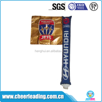 Square banner flag balloon promotional cheering noise making stick