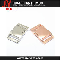metal side release buckle/ metal bag buckle/metal rose gold buckle for bag