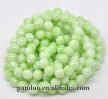 Unique Beautiful Style Green Round Glass Loose Beads