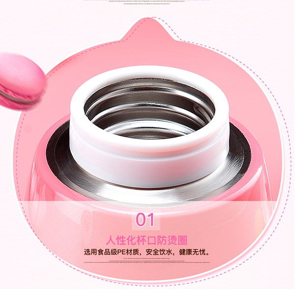 2016 Cartoon stainless steel vacuum water cup for kids