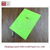 4D notebook YB-1162 Yubo 2017 PU Leather Cloth Cover Diary cardboard presentation boxes