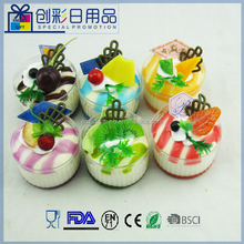 3d fridge magnet pu sponge fake plastic cake decorations