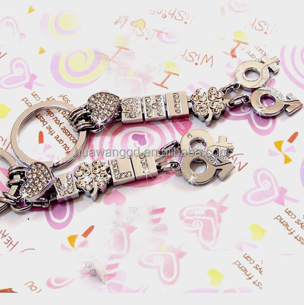 New design diy keychain with letter