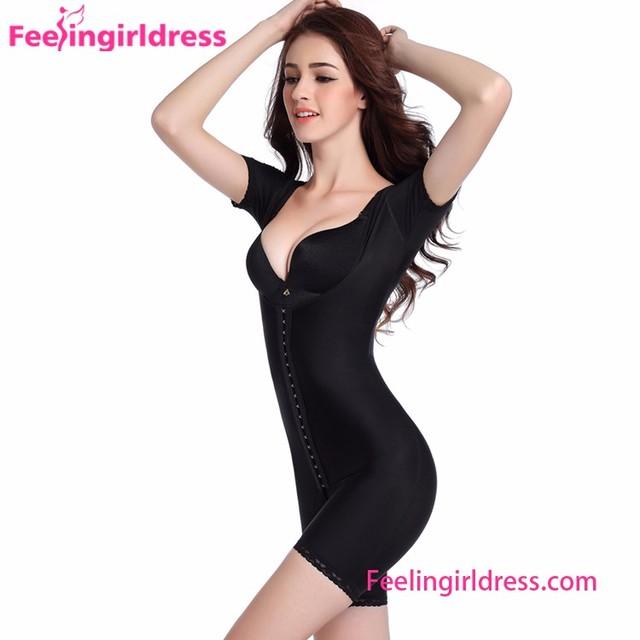 Top Quality Black Abdominal Control Women Full Slimming Body Shaper