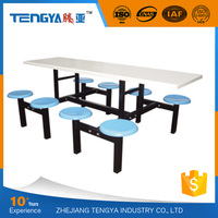 Tengya Restaurant Fiberglass School Canteen Table and Chair Most Selling Products