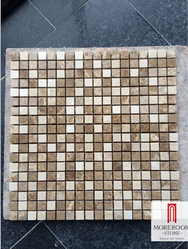 Colorful Natural Marble Small Square Polished Mosaic Tile