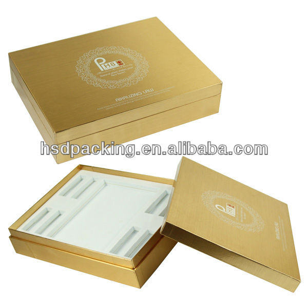 New design Custom Flocked Velvet Gold logo EVA insert Cardboard Paper Perfume Box