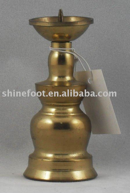 3.6''small brass temple oil lamp base A8-022 for themples/churches (E184 )