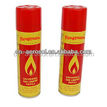 250ML aerosol butane lighter gas refill can