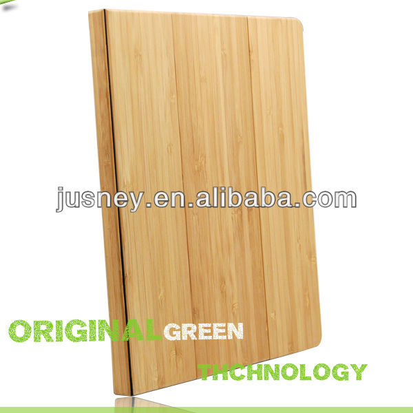 high quality for ipad 2 bamboo case stand with logo engraving serves