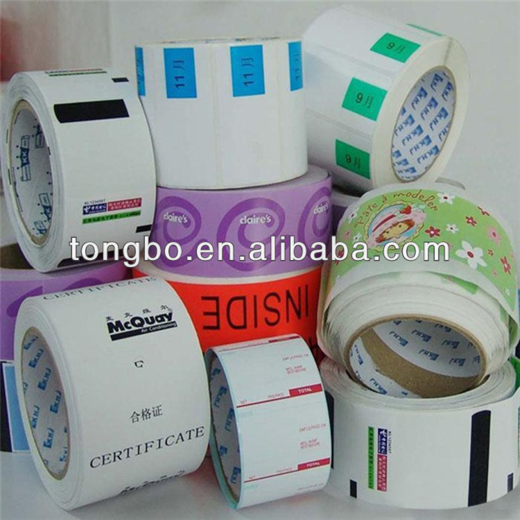 2014 Printing Top Quality Self Adhesive Customized Pre Printed Price Labels