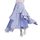 2019 Beauty Bohemian Maxi Dance Skirt Plus Size Blue Plaid Dress Skirts Wholesale