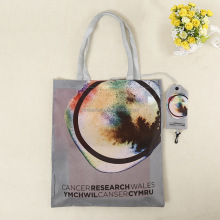 custom 190t polyester folding shopping bag