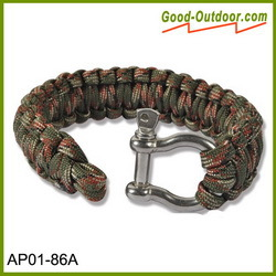 550 Paracord Fire Starter Survival Bracelet