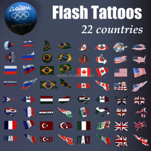 fashion Flash Flag tattoo country tattoo Temporary Tattoo for sport fans