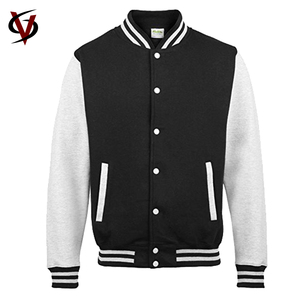 Wholesale High Quality 100% Cotton Mens Custom Baseball Varsity Jacket