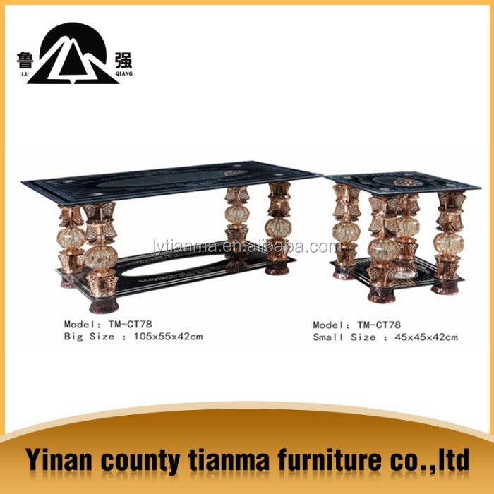 2015 Tianma Brand home furniture tempered glass coffee/tea table TM-CT78