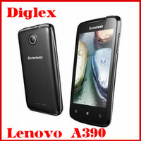 Wholesale Lenovo Phone China Cheap Smartphone Lenovo A390 Dual Core MTK6577 Android 4.0 3G Mobile Phone 4.0 inch 5MP Dual Sim