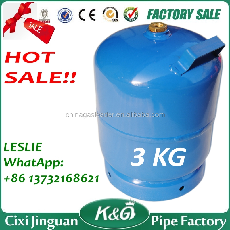 AFRICA KENYA NIGERIA GHANA TANZANIA HOME COOK 3 KG PORTABLE EMPTY LPG GAS CYLINDER, PORTABLE COOKING GAS CYLINDER TANK BOTTLE