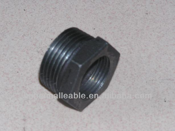 "1""DIN black malleable iron pipe fitting reducing bushing"
