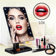 Best quality hollywood illuminated vanity led makeup mirror with led light 20 lights table mirror with touch control switch