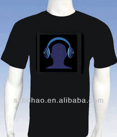 biggest manufacture hot selling el t shirt in China