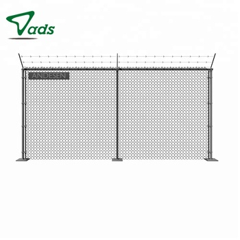 Used post iron mesh gate chain link fence per sqm weight