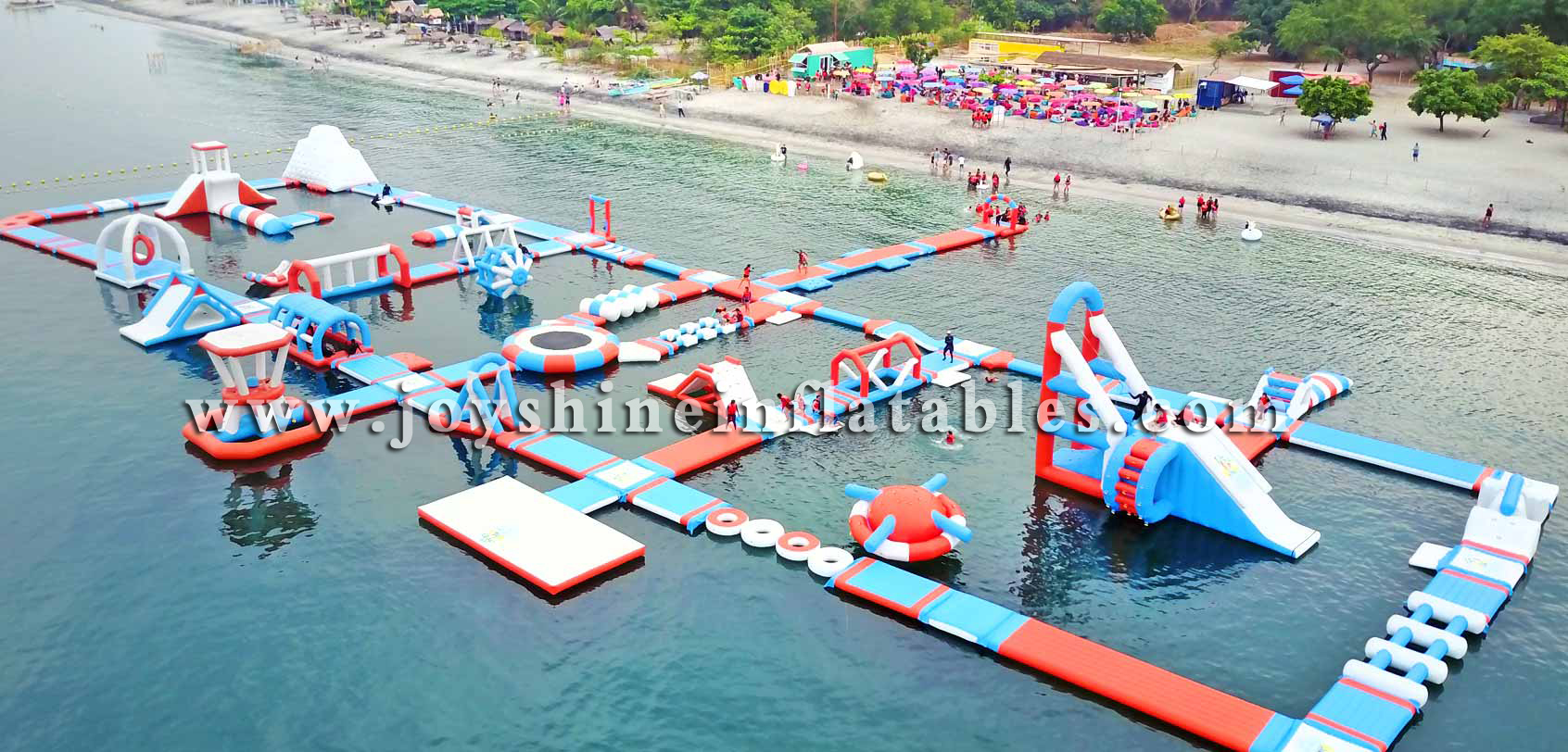 Super Huge Inflatable Aquapark Obstacle Course Theme Park Playground Inflatable Water Sports Floating Island For Adults
