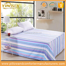 100% Egyptian Cotton Reactive Printing Stripe 4pcs Bed Sheet Sets